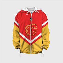 Куртка с капюшоном детская NHL: Calgary Flames цвета 3D-белый — фото 1