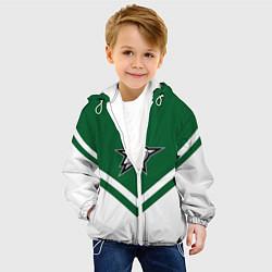 Куртка с капюшоном детская NHL: Dallas Stars цвета 3D-белый — фото 2