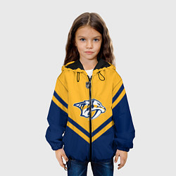 Куртка с капюшоном детская NHL: Nashville Predators цвета 3D-черный — фото 2