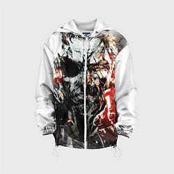 Куртка с капюшоном детская Metal gear solid 5 цвета 3D-белый — фото 1