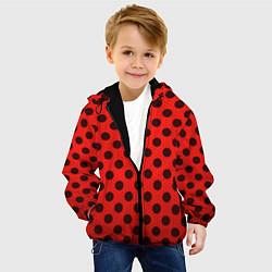 Куртка с капюшоном детская Леди Баг: узор цвета 3D-черный — фото 2
