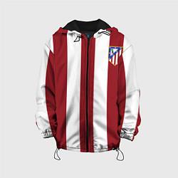 Куртка с капюшоном детская Атлетико Мадрид цвета 3D-черный — фото 1