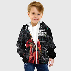 Детская 3D-куртка с капюшоном с принтом GTA V: Map, цвет: 3D-белый, артикул: 10116262705458 — фото 2