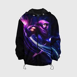 Детская 3D-куртка с капюшоном с принтом Malzahar, цвет: 3D-черный, артикул: 10116333205458 — фото 1