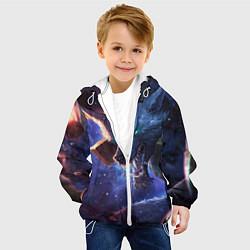Детская 3D-куртка с капюшоном с принтом Warwick, цвет: 3D-белый, артикул: 10117704805458 — фото 2