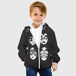 Куртка с капюшоном детская KISS Mask цвета 3D-белый — фото 2