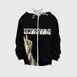 Куртка с капюшоном детская Scorpions Rock цвета 3D-белый — фото 1