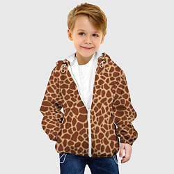 Куртка с капюшоном детская Жираф цвета 3D-белый — фото 2