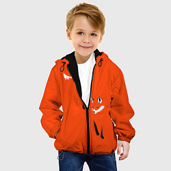 Куртка с капюшоном детская Лисица цвета 3D-черный — фото 2