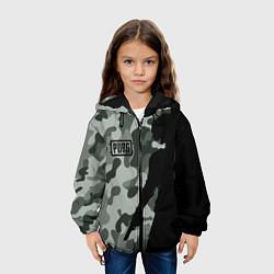 Куртка с капюшоном детская PUBG: Camo Shadow цвета 3D-черный — фото 2