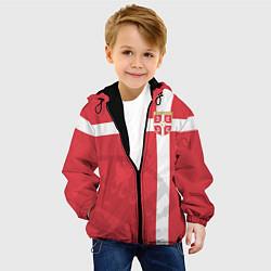 Куртка с капюшоном детская Сборная Сербии цвета 3D-черный — фото 2