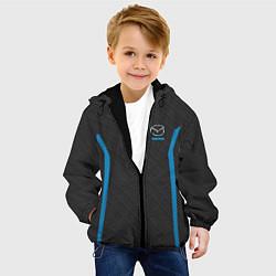 Детская 3D-куртка с капюшоном с принтом MAZDA SPORT, цвет: 3D-черный, артикул: 10146442905458 — фото 2