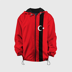 Куртка с капюшоном детская Турция цвета 3D-черный — фото 1