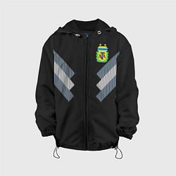 Детская 3D-куртка с капюшоном с принтом Аргентина: гостевая ЧМ-2018, цвет: 3D-черный, артикул: 10148957305458 — фото 1