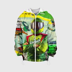 Детская 3D-куртка с капюшоном с принтом GTA V: Online Racer, цвет: 3D-белый, артикул: 10149397305458 — фото 1
