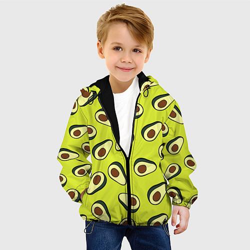 Детская куртка Стиль авокадо / 3D-Черный – фото 4