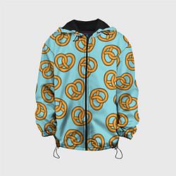 Куртка с капюшоном детская Стиль крендельков цвета 3D-черный — фото 1