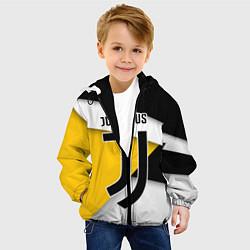 Куртка с капюшоном детская FC Juventus цвета 3D-черный — фото 2