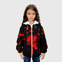 Куртка с капюшоном детская OOMPH! цвета 3D-белый — фото 2