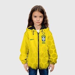 Детская 3D-куртка с капюшоном с принтом Brazil Team: WC 2018, цвет: 3D-черный, артикул: 10154615705458 — фото 2