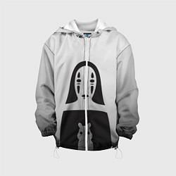 Детская 3D-куртка с капюшоном с принтом Унесенные призраками, цвет: 3D-белый, артикул: 10155871505458 — фото 1