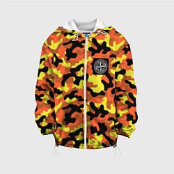 Детская 3D-куртка с капюшоном с принтом Stone Island: Vivid Camo, цвет: 3D-белый, артикул: 10166637305458 — фото 1