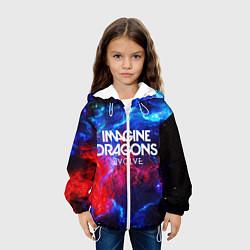 Детская 3D-куртка с капюшоном с принтом IMAGINE DRAGONS, цвет: 3D-белый, артикул: 10184934705458 — фото 2