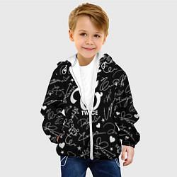 Детская 3D-куртка с капюшоном с принтом TWICE АВТОГРАФЫ, цвет: 3D-белый, артикул: 10192887305458 — фото 2