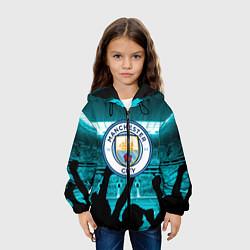 Куртка с капюшоном детская Manchester City цвета 3D-черный — фото 2