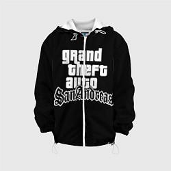 Детская 3D-куртка с капюшоном с принтом GTA San Andreas, цвет: 3D-белый, артикул: 10200418105458 — фото 1