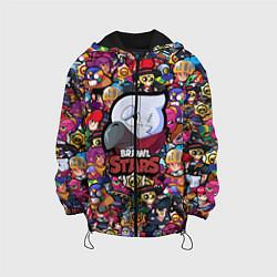 Детская 3D-куртка с капюшоном с принтом BRAWL STARS CROW, цвет: 3D-черный, артикул: 10201248705458 — фото 1