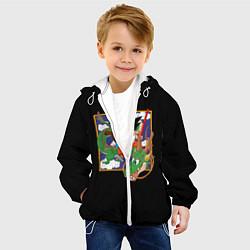 Детская 3D-куртка с капюшоном с принтом Dragon Ball, цвет: 3D-белый, артикул: 10203591305458 — фото 2