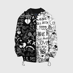 Детская 3D-куртка с капюшоном с принтом LIL PEEP LOGOBOMBING, цвет: 3D-черный, артикул: 10204407705458 — фото 1