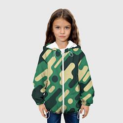 Куртка с капюшоном детская Военный камуфляж цвета 3D-белый — фото 2