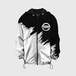 Детская 3D-куртка с капюшоном с принтом NISSAN, цвет: 3D-черный, артикул: 10208569705458 — фото 1