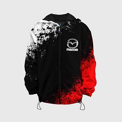 Детская 3D-куртка с капюшоном с принтом MAZDA, цвет: 3D-черный, артикул: 10211866305458 — фото 1