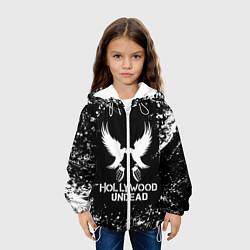 Детская 3D-куртка с капюшоном с принтом Hollywood Undead, цвет: 3D-белый, артикул: 10213540705458 — фото 2