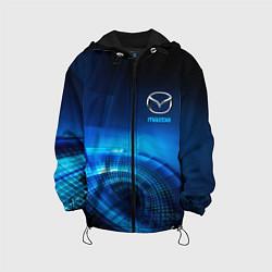 Детская 3D-куртка с капюшоном с принтом MAZDA, цвет: 3D-черный, артикул: 10216228905458 — фото 1