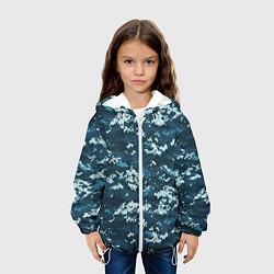 Куртка 3D с капюшоном для ребенка Пиксельный камуфляж полиции - фото 2