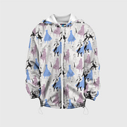 Детская 3D-куртка с капюшоном с принтом Эльза и Анна, цвет: 3D-белый, артикул: 10253046705458 — фото 1