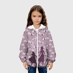 Детская 3D-куртка с капюшоном с принтом Холодное сердце, цвет: 3D-белый, артикул: 10253332705458 — фото 2