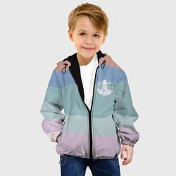 Детская 3D-куртка с капюшоном с принтом Холодное сердце, цвет: 3D-черный, артикул: 10253334505458 — фото 2