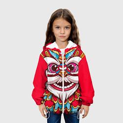 Куртка 3D с капюшоном для ребенка Морда Азиатского Льва - фото 2