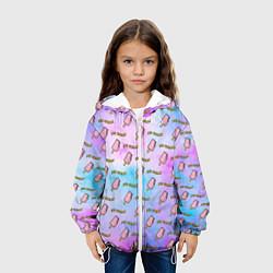 Детская 3D-куртка с капюшоном с принтом BLACKPINK ICE CREAM, цвет: 3D-белый, артикул: 10268165305458 — фото 2