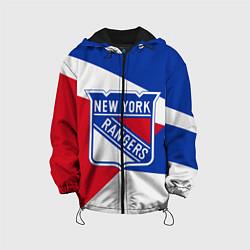 Детская 3D-куртка с капюшоном с принтом Нью-Йорк Рейнджерс, цвет: 3D-черный, артикул: 10271425705458 — фото 1