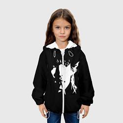 Детская 3D-куртка с капюшоном с принтом Цой Жив!, цвет: 3D-белый, артикул: 10271640705458 — фото 2