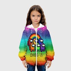Куртка 3D с капюшоном для ребенка Among Us Радуга - фото 2