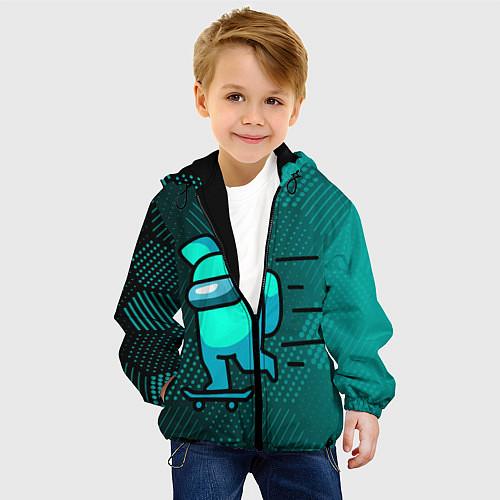 Детская куртка AMONG US / 3D-Черный – фото 4