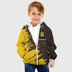 Куртка с капюшоном детская AMONG US АМОНГ АС цвета 3D-белый — фото 2