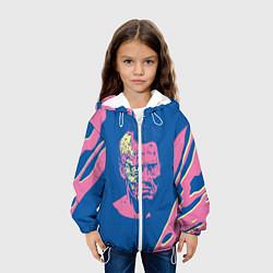 Куртка с капюшоном детская Неоновый терминатор цвета 3D-белый — фото 2